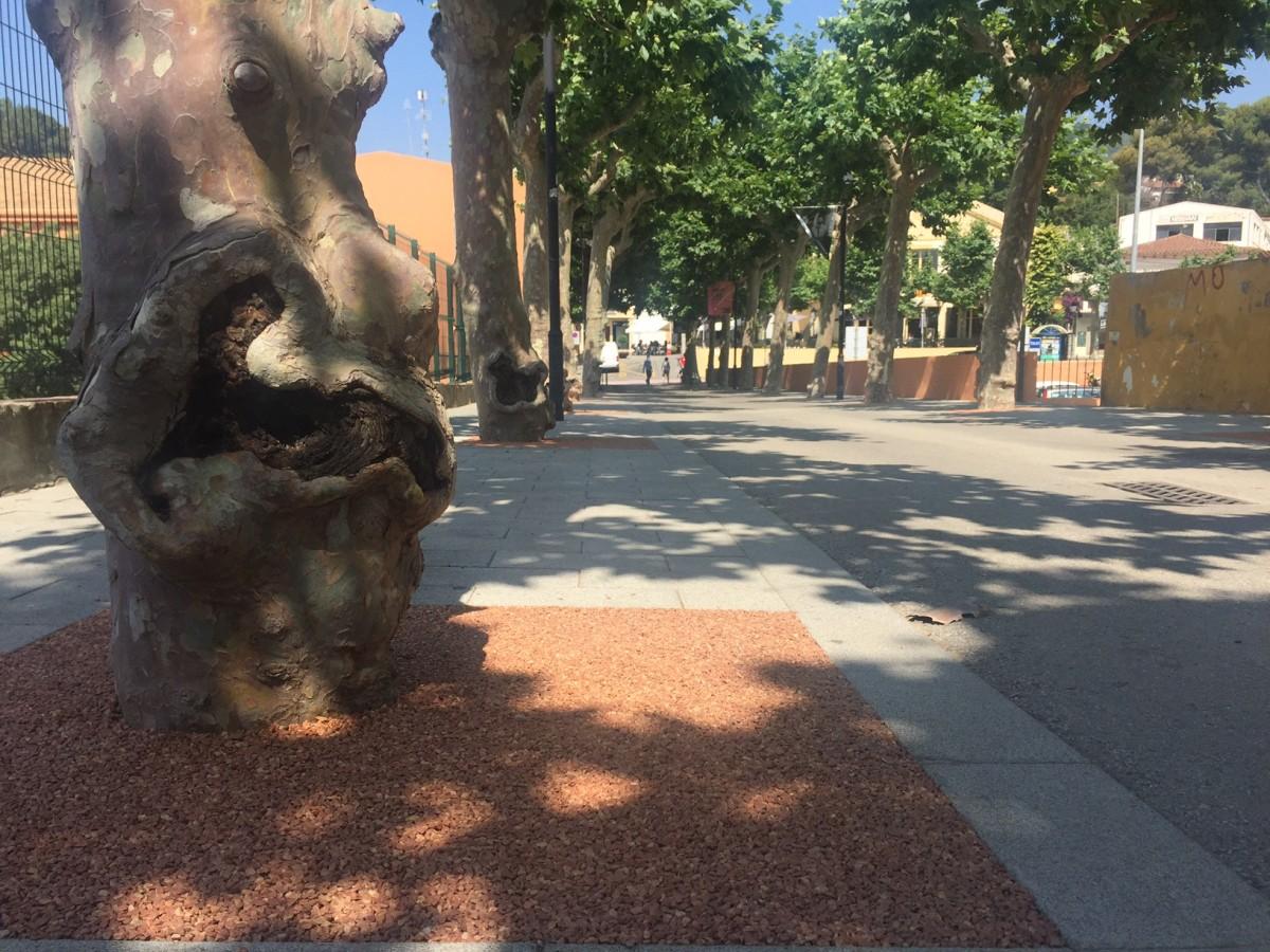 Substitució dels escocells als carrers del nucli antic